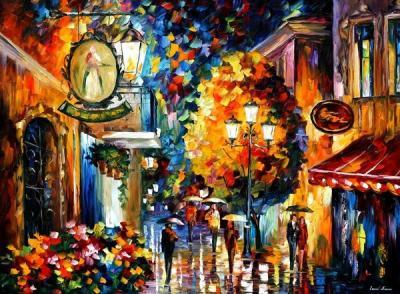 Un Café, Una Calle, Un Paseo Bajo la Lluvia, Luces de Bohemia