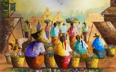 Arte Filipinas Maravillosa pintura de Cesar Balagot